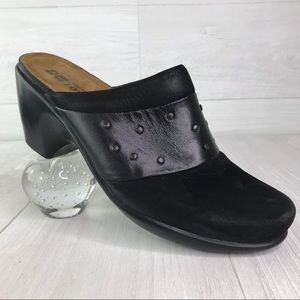 Naot Appeal Black Studded Mules